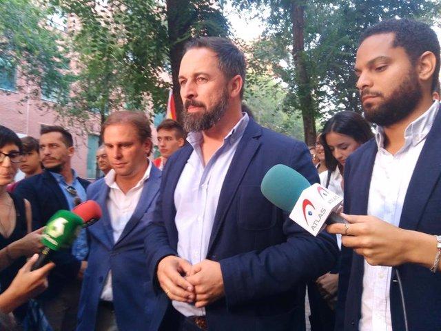 Presidente de Vox, Santiago Abascal.