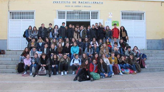 Alumnos del IES Diego de Guzmán y Quesada.