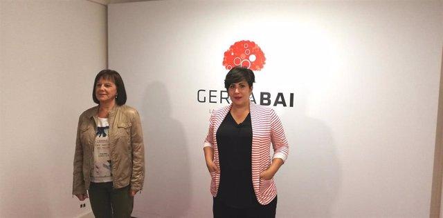 Esther Cremaes y María Solana, cabezas de lista por Geroa Bai al Senado y el Congreso, respectivamente
