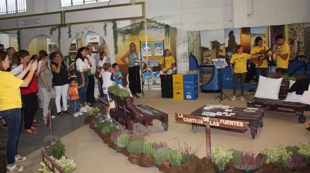 La Comarca ya puso en marcha los talleres en su stand de FEMOGA