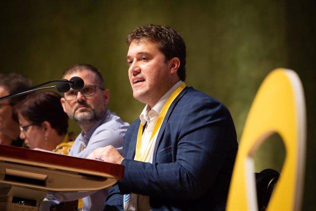 El presidente del PDeCAT, David Bonvehí, interviene en el Consell Nacional del partido