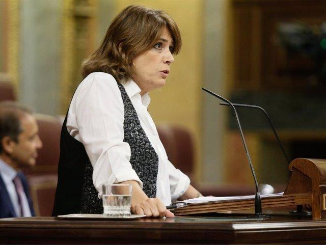 La ministra de Justicia Dolores Delgado en el Congreso