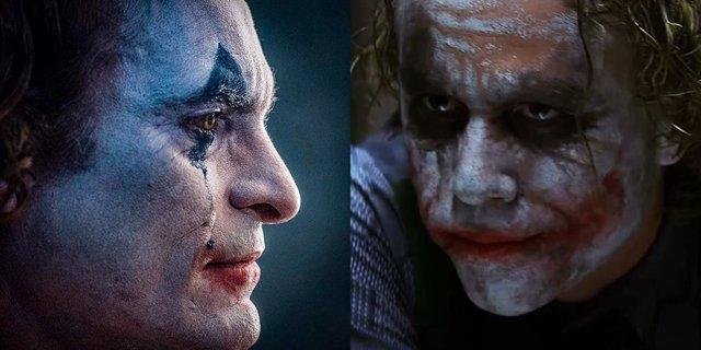 El Joker de Joaquin Phoenix junto al de Heath Ledger