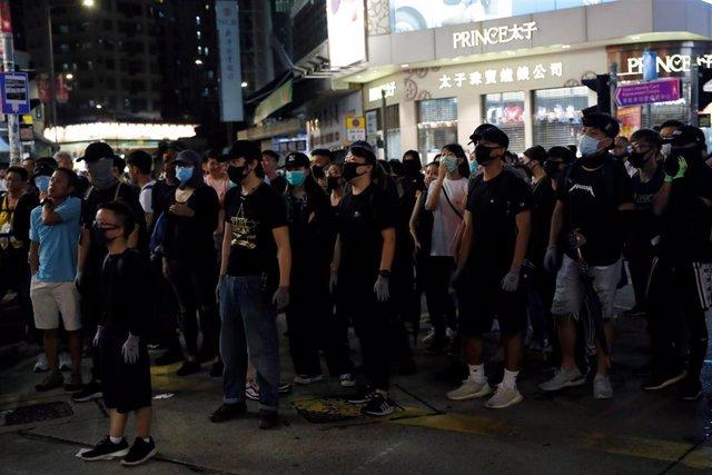 Foto de las protestas de Hong Kong