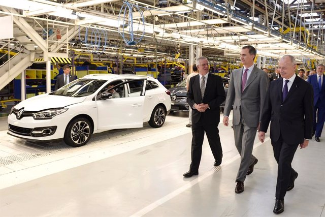 Visita de S.M. El Rey de España a la factoría de Renault en Villamuriel de Cerrato, Palencia, en 2016