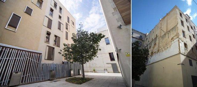 Restauración del entorno del patio posterior del Museo Picasso de Barcelona
