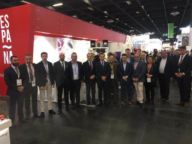 El director del Instituto de Fomento (Info), Diego Rodríguez-Linares, asistE a la feria acompañado de una delegación de 19 empresas de la Región de Murcia