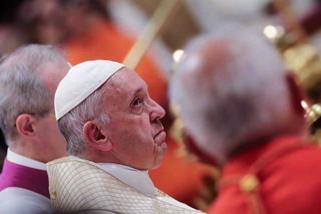 El Papa Francisco, en el acto de nombramiento de trece nuevos cardenales en la Basílica de San Pedro del Vaticano, este 5 de octubre de 2019