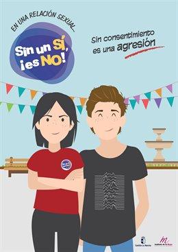 Cartel de la campaña 'Sin un sí, es No'