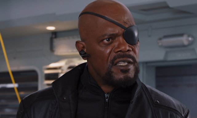 Samuel L. Jackson interpretando a Nick Fury