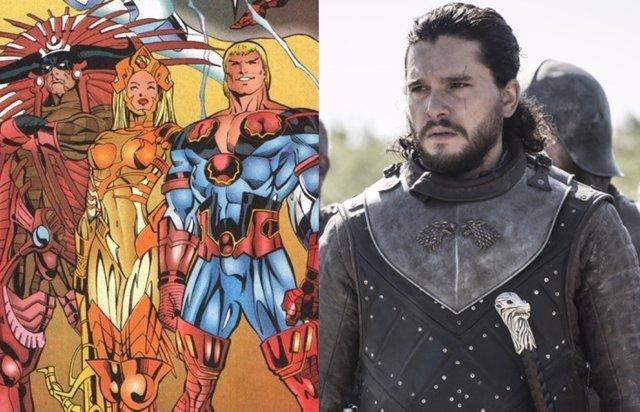 Los Eternos de Marvel y Kit Harrinton en Juego de tronos