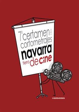 Cartel del 7º Certamen de cortometrajes 'Navarra, Tierra de Cine'