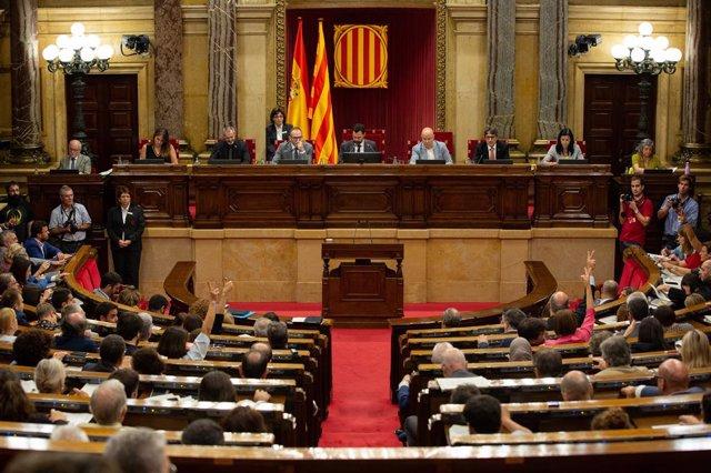 Ple del Parlament durant el Debat de Política General
