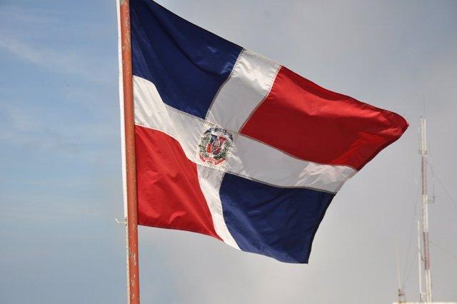 Bandera de República Dominicana.
