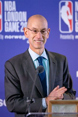 Commissioner of the NBA Adam Silver at the press conference during the NBA London Game Basketball match between Washington Wizards and New York Knicks on January 17, 2019 at the O2 Arena in London, United Kingdom - Photo Martin Cole / ProSportsImages / DP