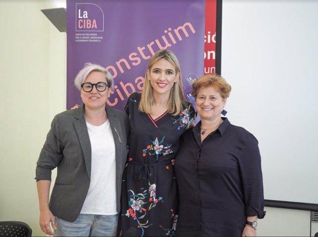 La regidora de Justicia Social, Feminismo y LGTBI del Ayuntamiento de Palma, Sonia Vivas, en unas jornadas contra la prostitución y la explotación social