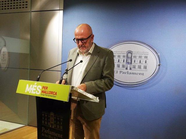 El portavoz de MÉs per Mallorca en el Parlament, Miquel Ensenyat.
