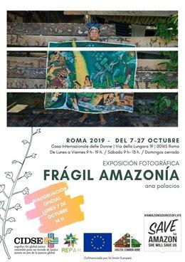 Cartel exposición 'Frágil Amazonía' de Ana Palacios