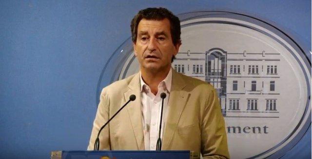 El Presidente del PP de Baleares anuncia los temas a tratar por su partido en el pleno del Parlament del martes, 8 de octubre