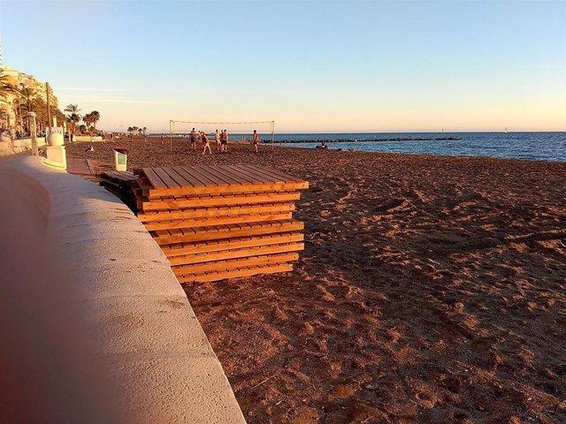 Playa de El Zapillo en Almería