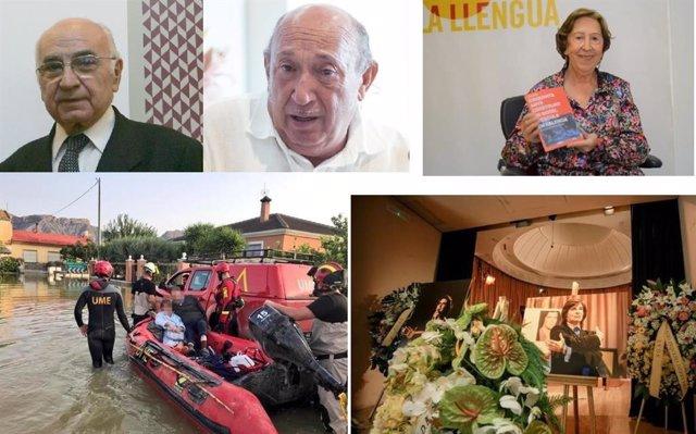 Premiados 9 Octubre 2019 (Francisco Brines, Francis Montesinos, Carme Miquel, efectivos de la UME y capilla de Camilo Sesto)