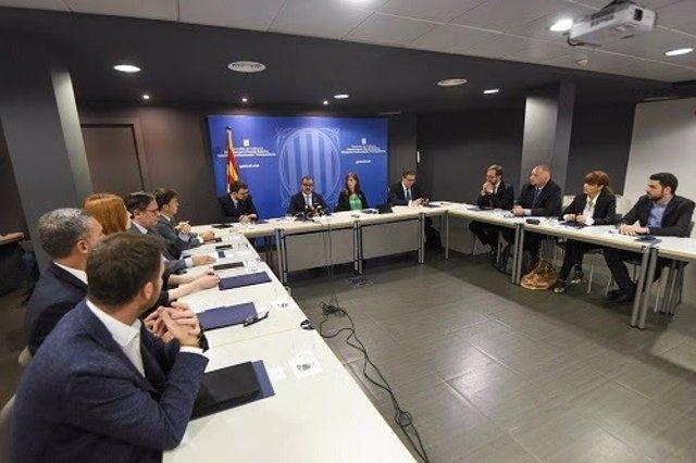 Encuentro de delegados del Govern en el exterior con el conseller Alfred Bosch