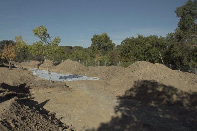 Imagen de los restos de una casa romana hallada en la Casa de Campo.
