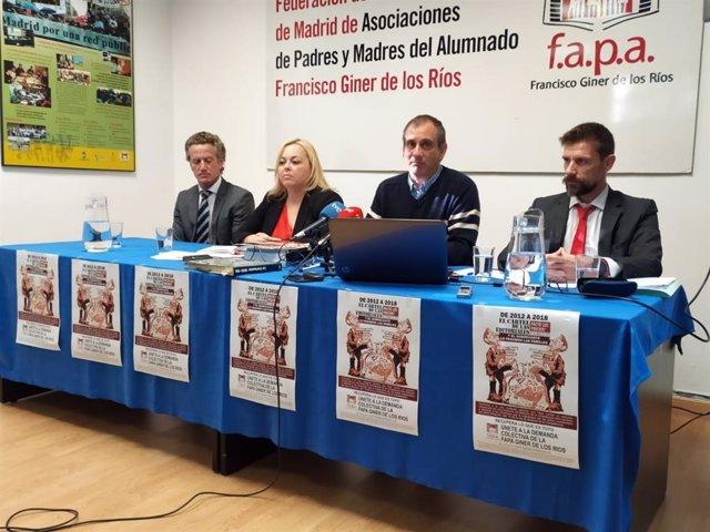 Rueda de prensa de la FAPA Giner de los Ríos