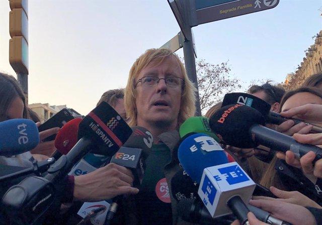 El portaveu de la Intersindical-CSC Sergi Perelló en una foto d'arxiu.
