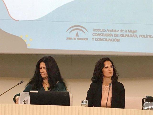 Imagen del Foro Provincial de Género y Migra-acción que ha organizado el IAM en Sevilla este lunes.