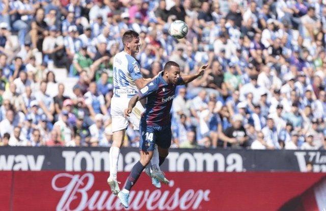 Fútbol.- El CD Leganés pedirá la nulidad del partido ante el Levante y su repeti