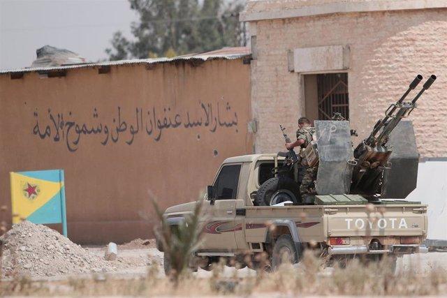 Milicianos kurdos de las YPG en Siria