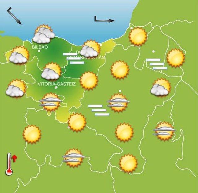 Previsiones meteorológicas para el 8 de octubre en Euskadi.