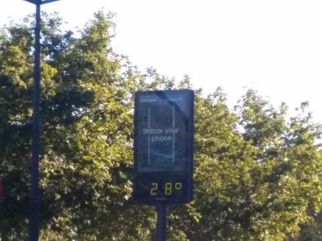 Térmometro 28ºC