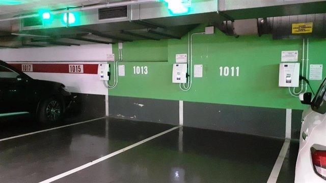 Los nuevos puntos de recarga para coches eléctricos en aparcamientos municipales.