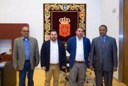 Recepción en el Parlamento a la delegación del Frente Polisario para la Comunidad foral.