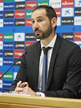 El nuevo entrenador del RCD Espanyol, Pablo Machín, en su presentación