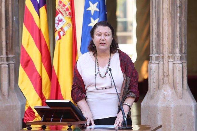 La consellera d'Agricultura, Pesca i Alimentació, Mae de la Petxina, durant la seva presa de possessió, recurs, arxiu