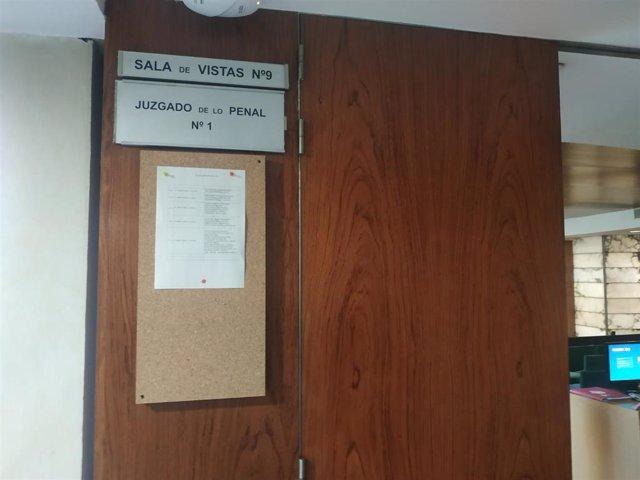 Sala de vistas del Juzgado de lo Penal 1, donde se ha celebrado el juicio por la muerte de la joven en accidente de tráfico en Rioseco.
