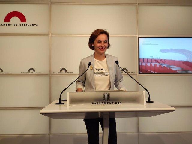 La portaveu d'ERC al Parlament, Anna Caula