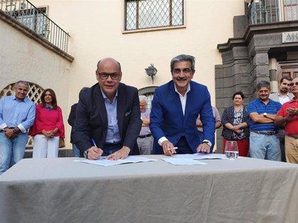 """CC y NC sellan su confluencia y programa electoral para """"hacer más fuerte a Canarias"""""""