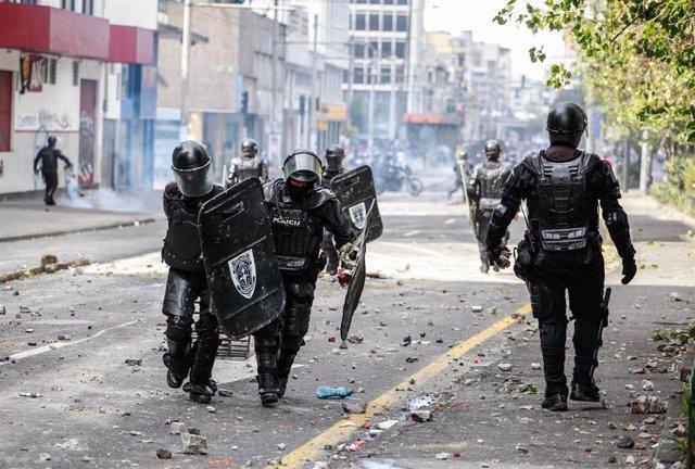 Disturbios en las protestas contra la reforma económica del Gobierno de Lenín Moreno
