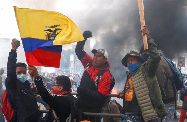 Protestas en Quito contra el Gobierno de Lenín Moreno