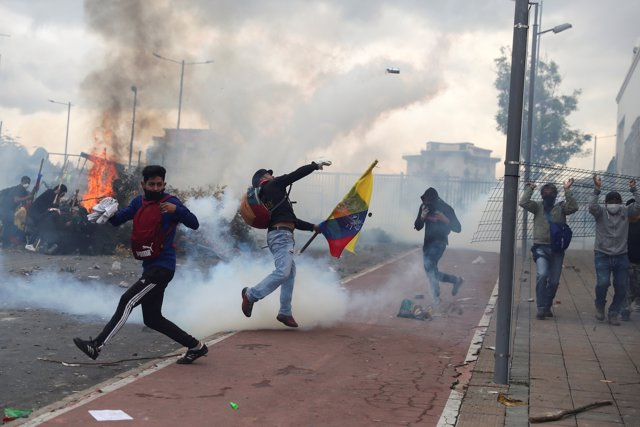 Disturbios en Quito, Ecuador
