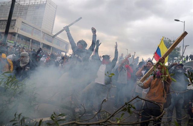 Disturbios en Quito en el marco de las protestas contra el Gobierno de Lenín Moreno
