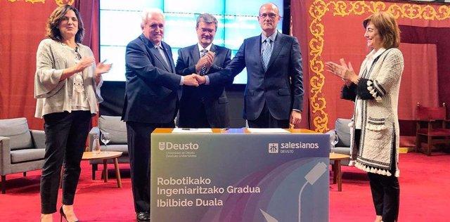 La Universidad ha acogido la firma del convenio de colaboración