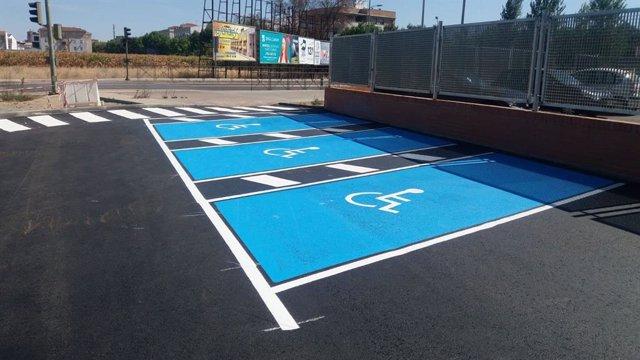 Plazas de aparcamiento en el centro de salud Montijo-Puebla de la Calzada