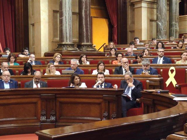 Pleno del Parlament el 9 de octubre.