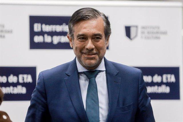 El consejero de Justicia, Interior y Víctimas de la Comunidad de Madrid, Enrique López, asiste al acto de inauguración del ciclo de cine 'El terrorismo de ETA en la gran pantalla', en Madrid (España) a 30 de septiembre de 2019.