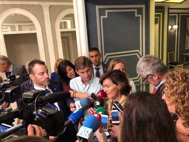 """Calvo diu que el Govern central té l'""""obligació"""" d'abordar qüestions com les peonades"""